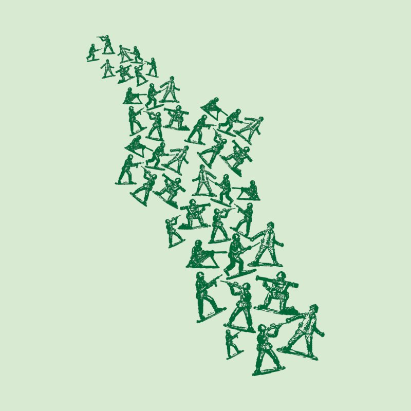 Toy Army Men Home Fine Art Print by