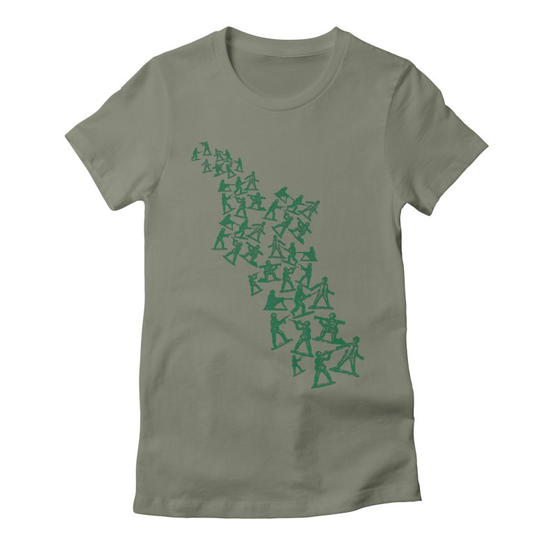 Toy Army Men Women's Fitted T-Shirt by