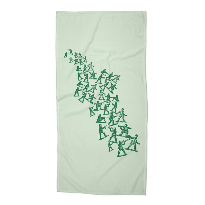 Army Men Accessories Beach Towel by