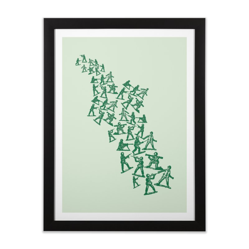 Army Men Home Framed Fine Art Print by