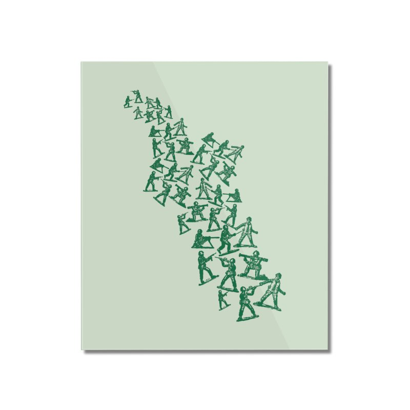 Army Men Home Mounted Acrylic Print by
