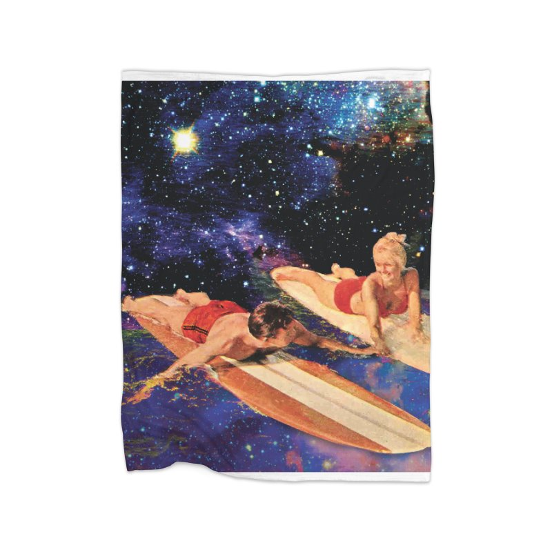 Galaxy Surfing Home Blanket by