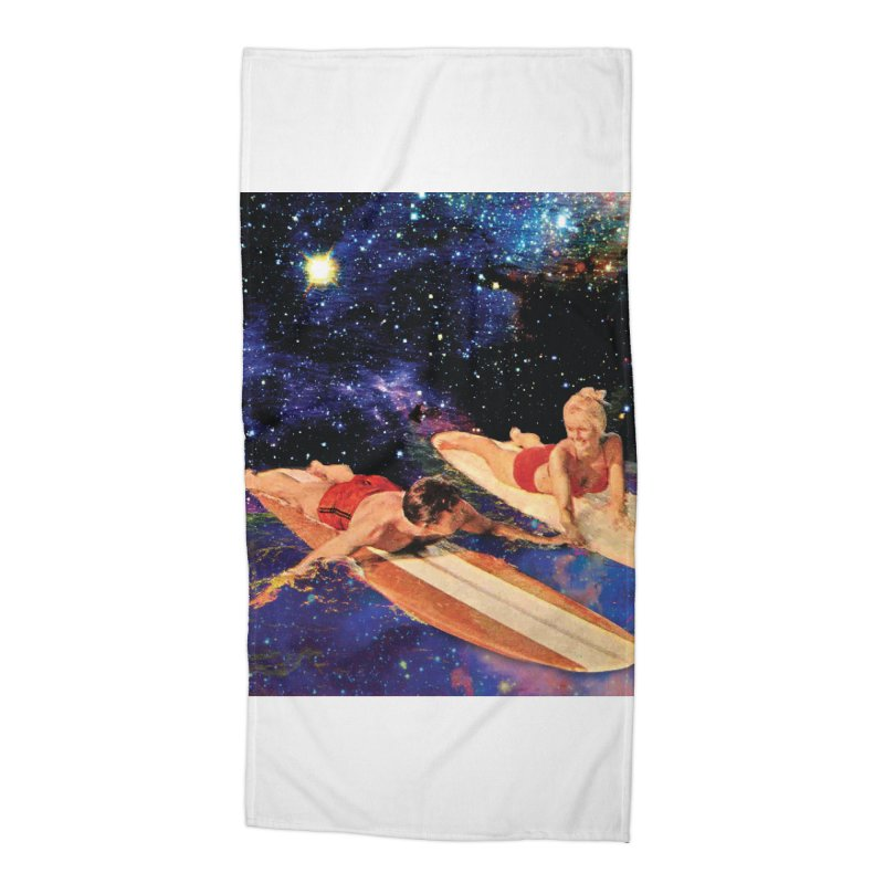Galaxy Surfing Accessories Beach Towel by