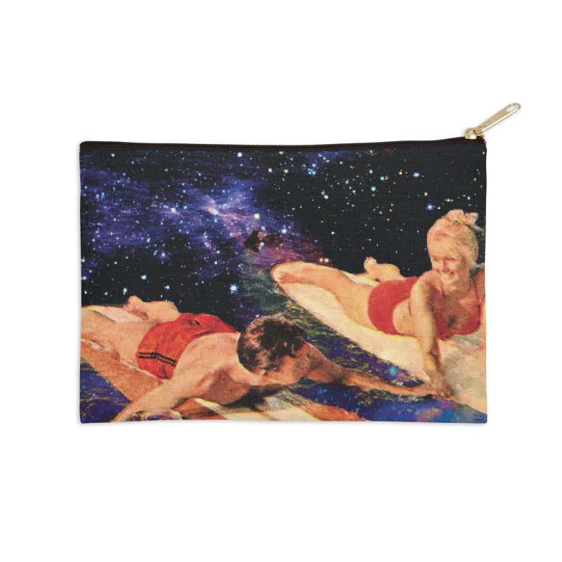 Galaxy Surfing Accessories Zip Pouch by