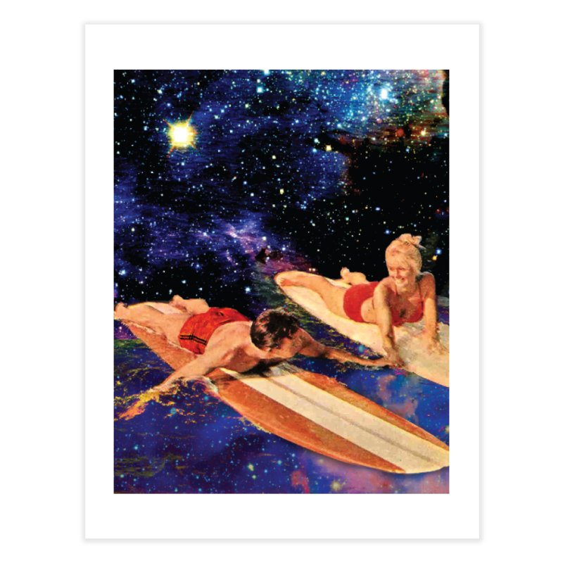 Galaxy Surfing Home Fine Art Print by