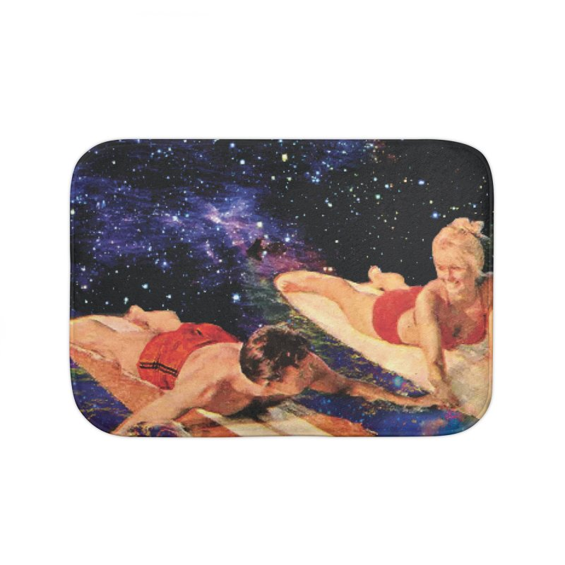 Galaxy Surfing Home Bath Mat by