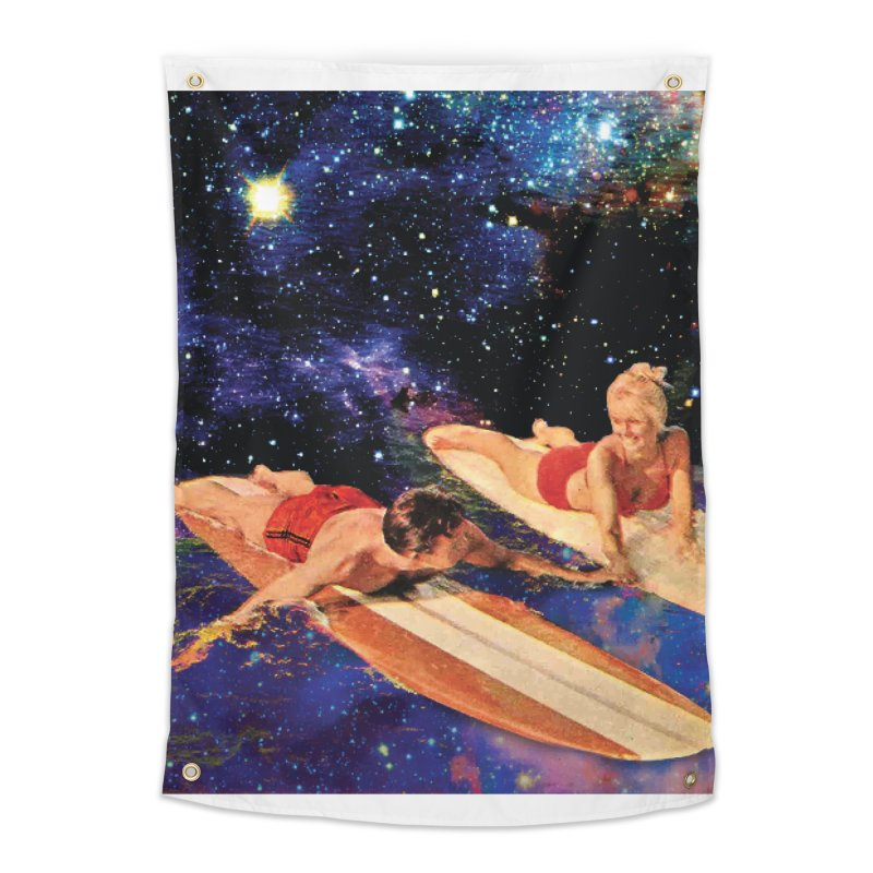 Galaxy Surfing Home Tapestry by