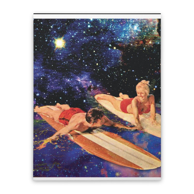 Galaxy Surfing Home Stretched Canvas by