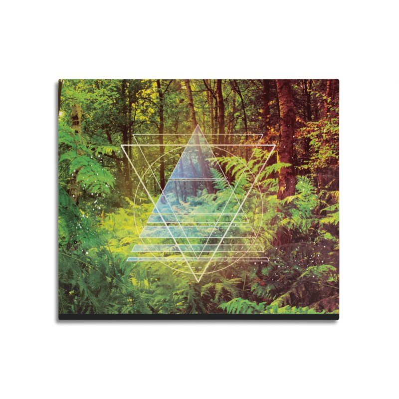 Zen Trail Home Mounted Aluminum Print by