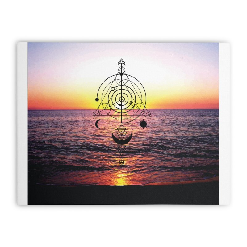 Astral Sunset Home Stretched Canvas by