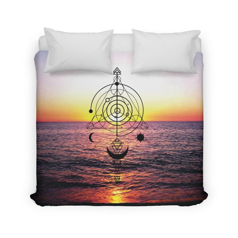 Astral Sunset Home Duvet by