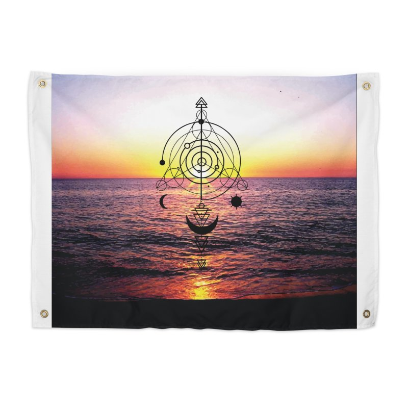 Astral Sunset Home Tapestry by