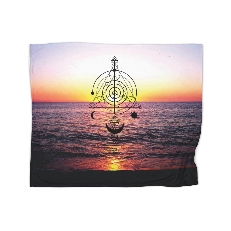 Astral Sunset Home Blanket by
