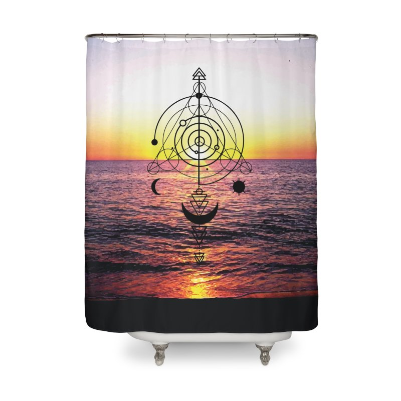Astral Sunset Home Shower Curtain by