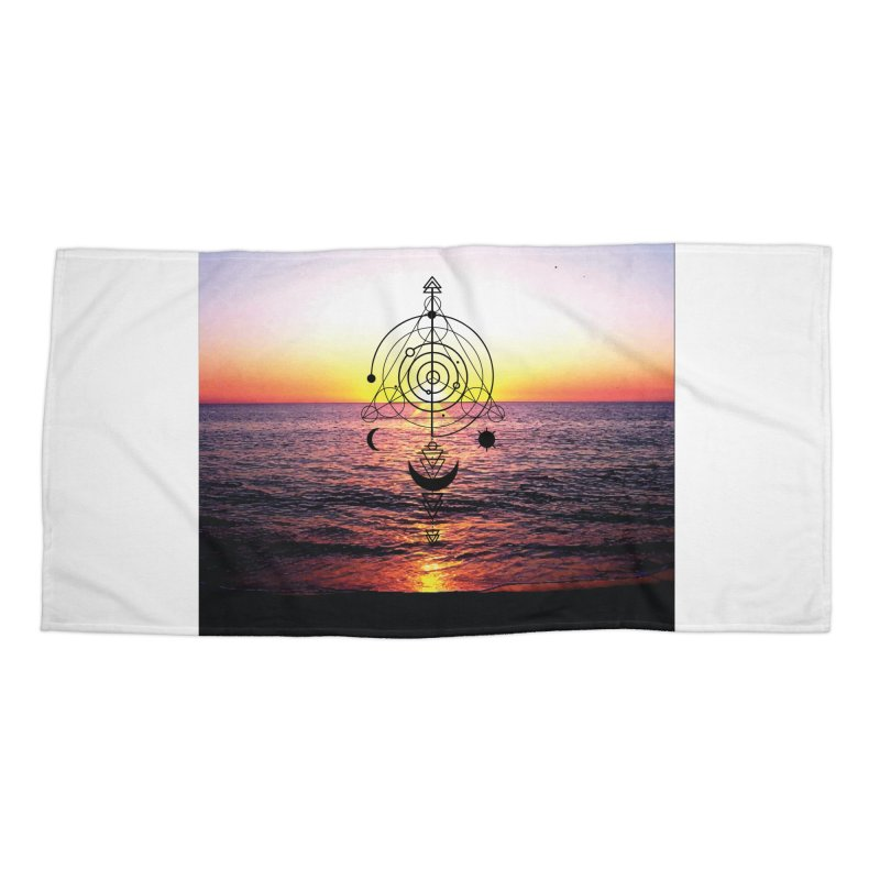 Astral Sunset Accessories Beach Towel by
