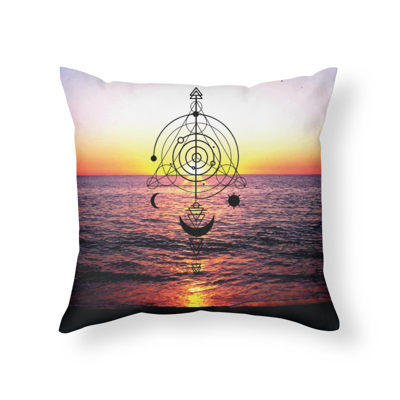 Astral Sunset Home Throw Pillow by