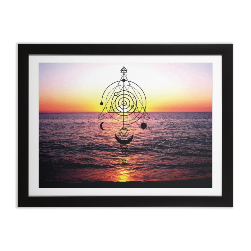 Astral Sunset Home Framed Fine Art Print by