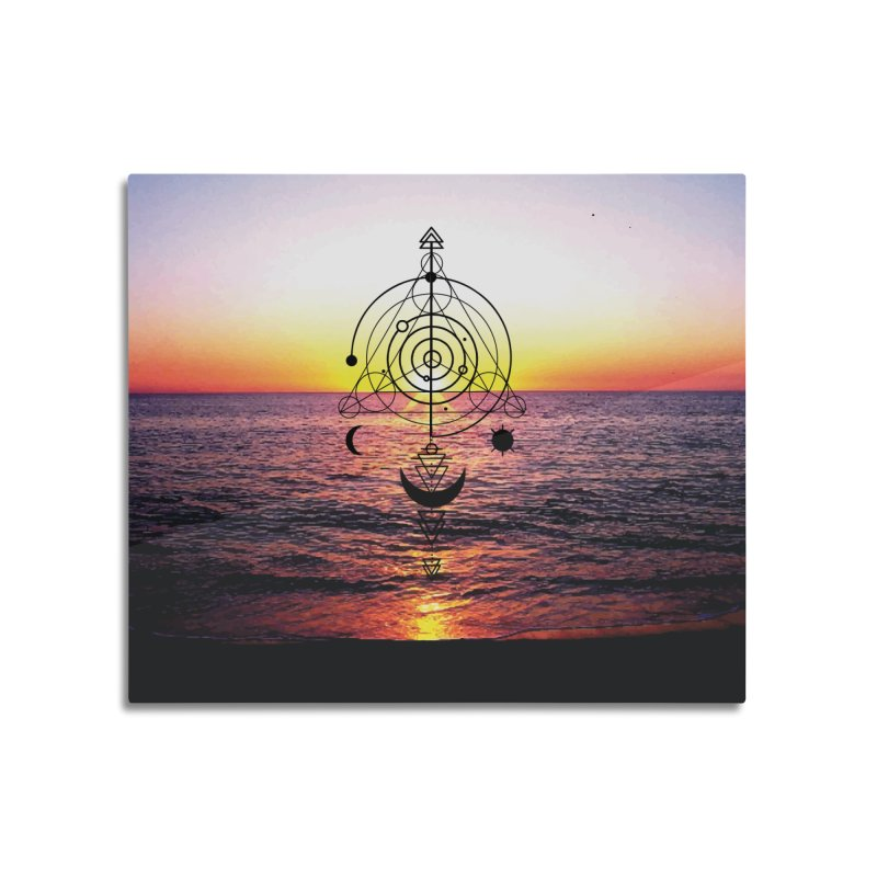 Astral Sunset Home Mounted Aluminum Print by