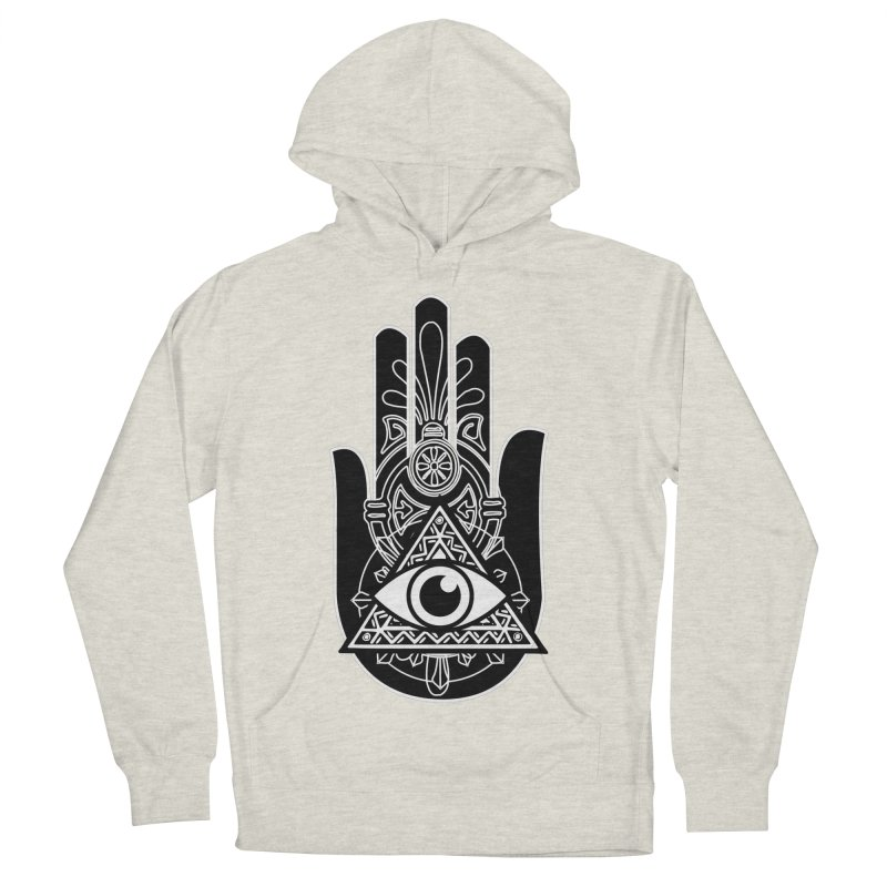 Hamsa Third Eye Men's French Terry Pullover Hoody by