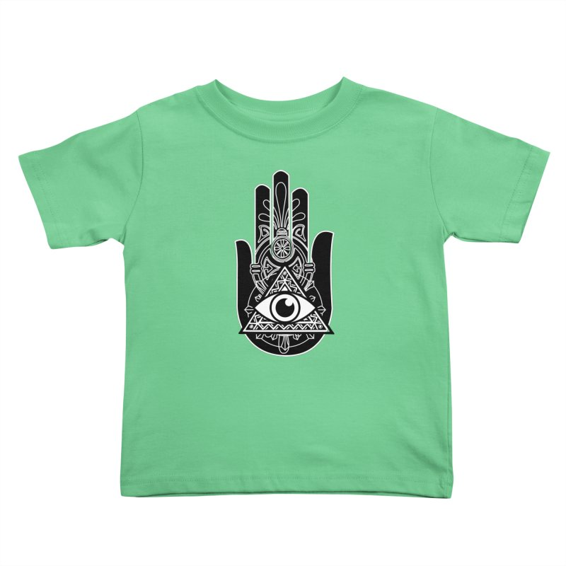 Hamsa Third Eye Kids Toddler T-Shirt by