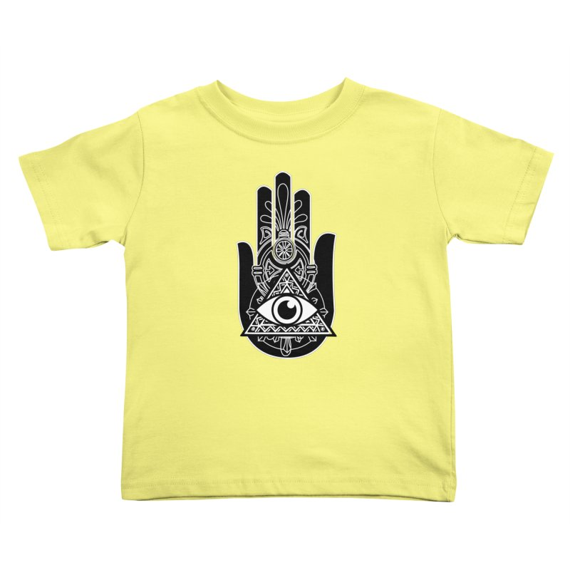 Hamsa Third Eye Kids Toddler T-Shirt by