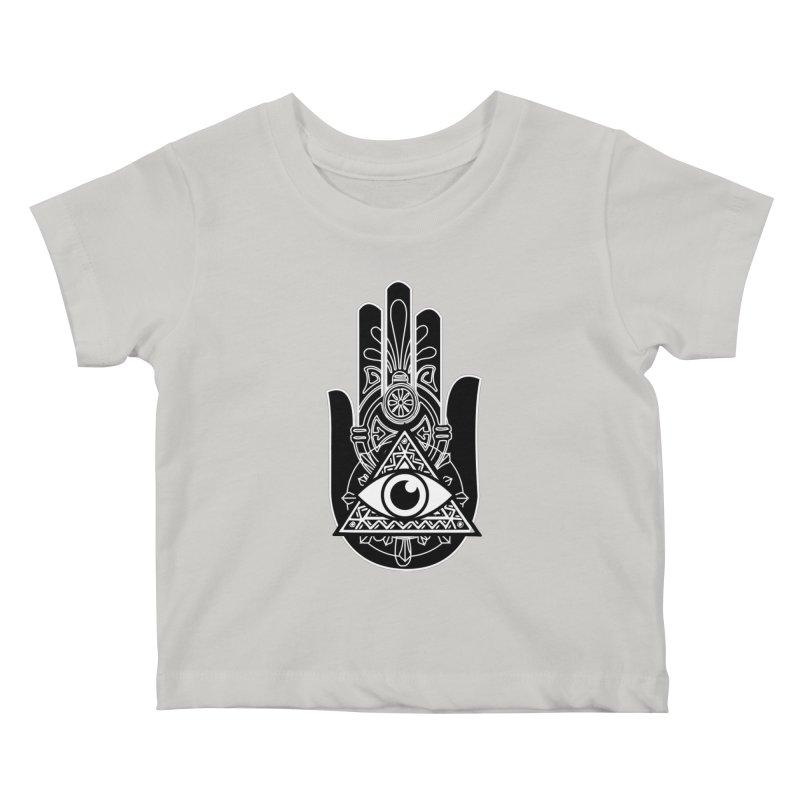 Hamsa Third Eye Kids Baby T-Shirt by