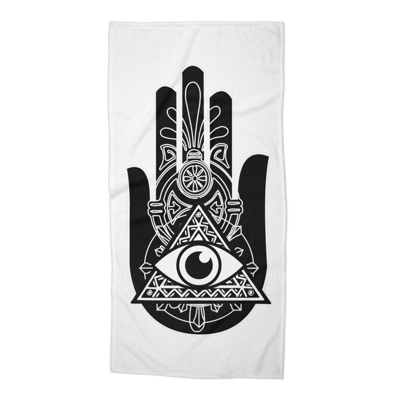 Hamsa Third Eye Accessories Beach Towel by