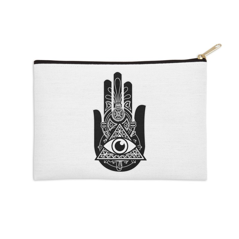 Hamsa Third Eye Accessories Zip Pouch by