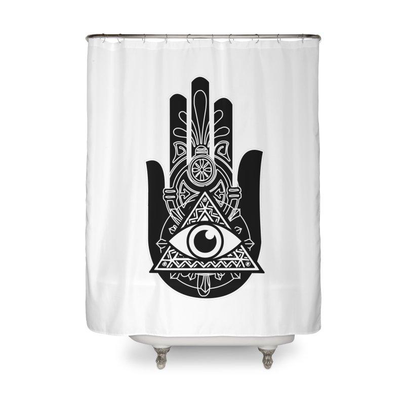 Hamsa Third Eye Home Shower Curtain by