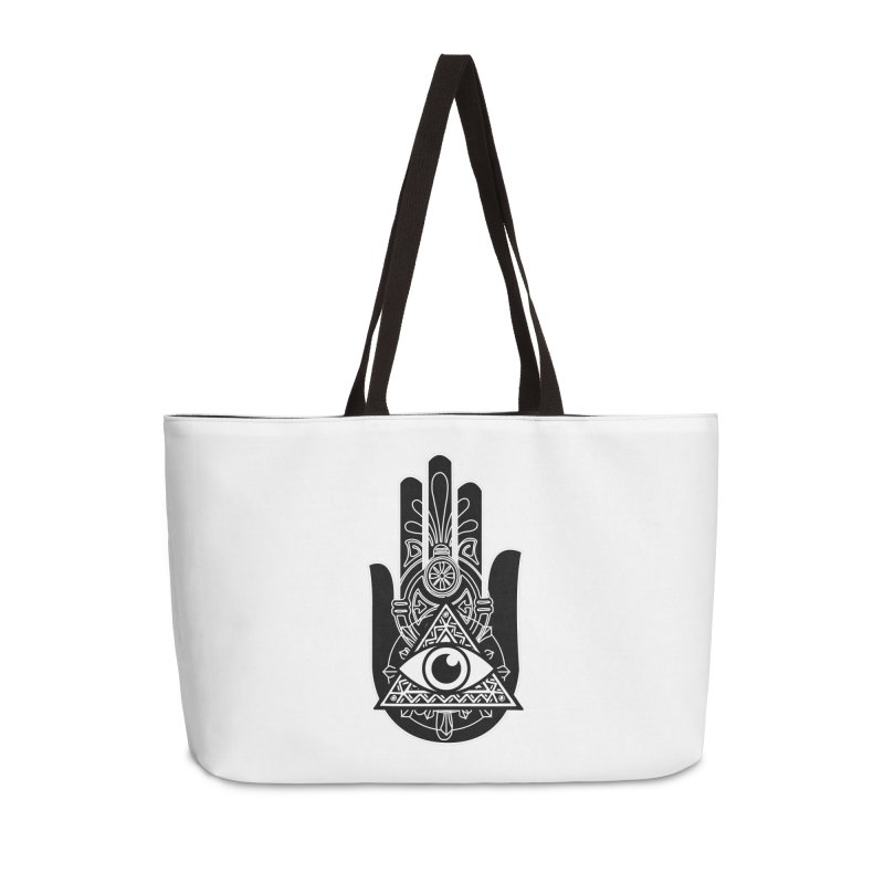 Hamsa Third Eye Accessories Weekender Bag Bag by