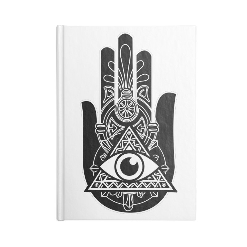 Hamsa Third Eye Accessories Blank Journal Notebook by