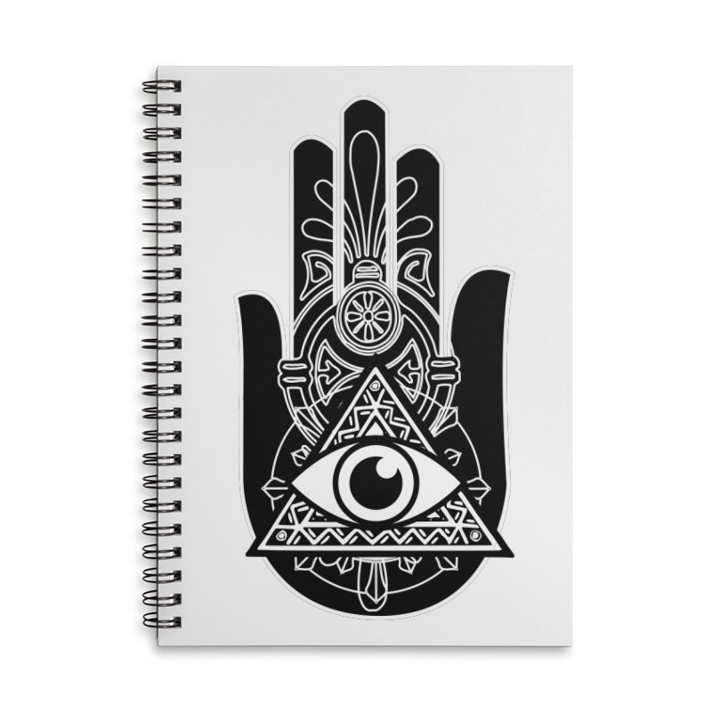 Hamsa Third Eye Accessories Lined Spiral Notebook by