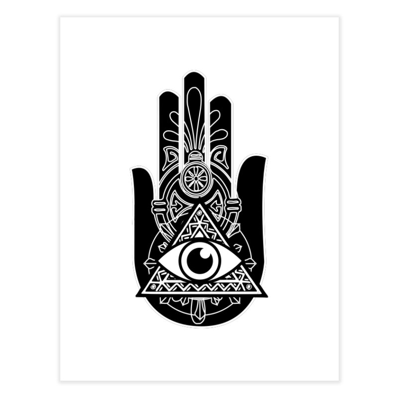 Hamsa Third Eye Home Fine Art Print by