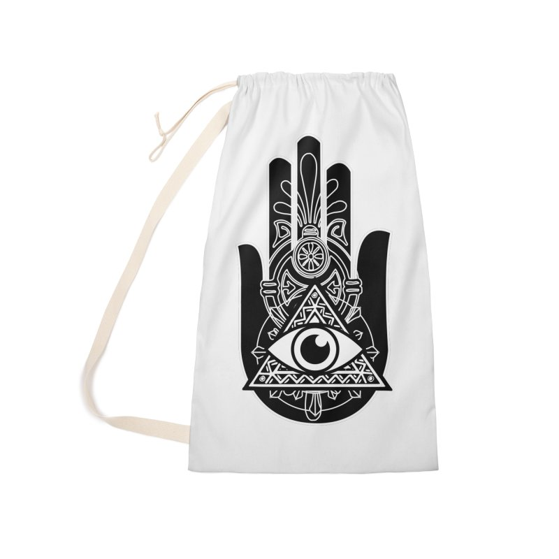 Hamsa Third Eye Accessories Laundry Bag Bag by