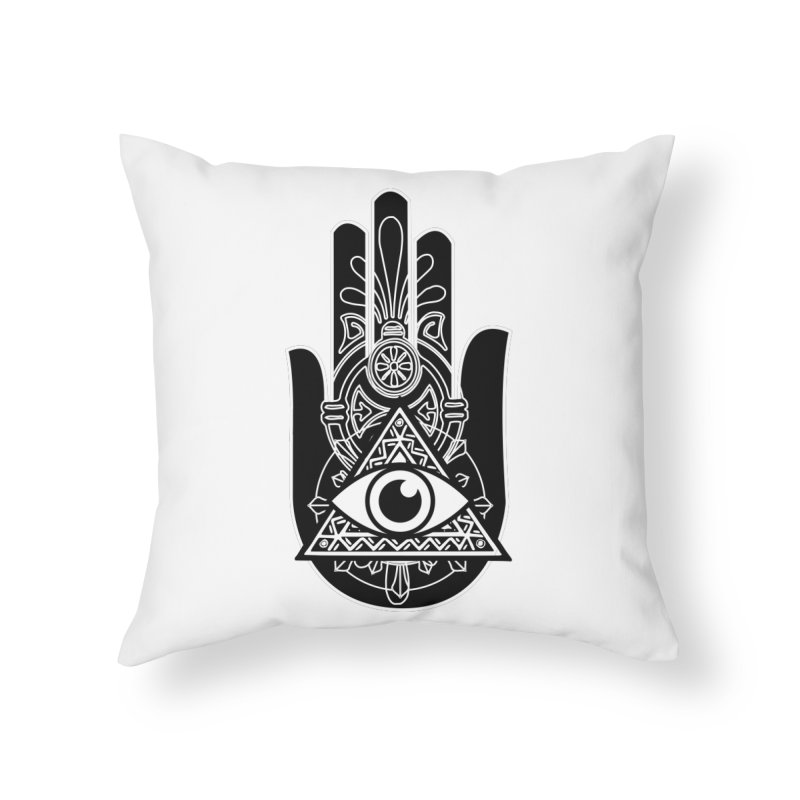 Hamsa Third Eye Home Throw Pillow by