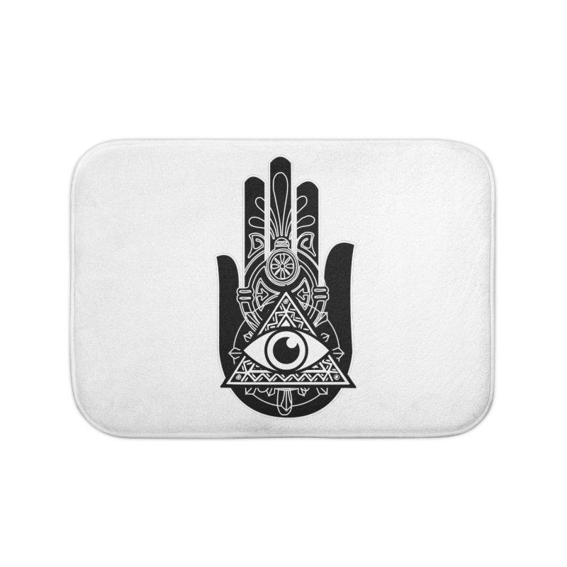 Hamsa Third Eye Home Bath Mat by