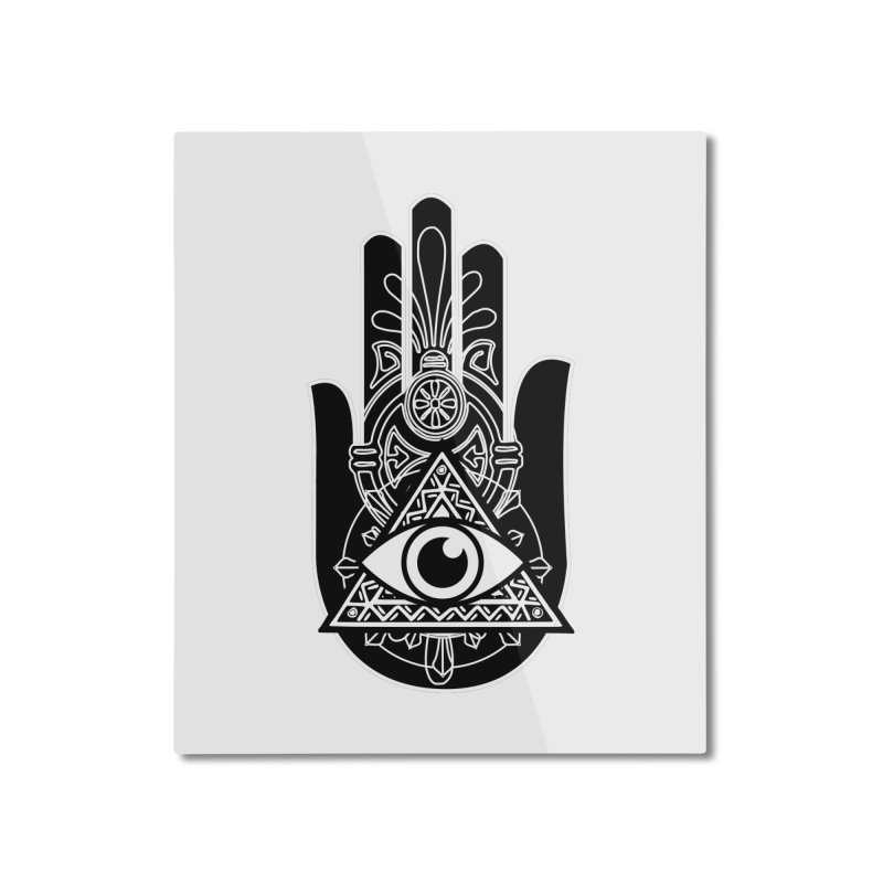 Hamsa Third Eye Home Mounted Aluminum Print by