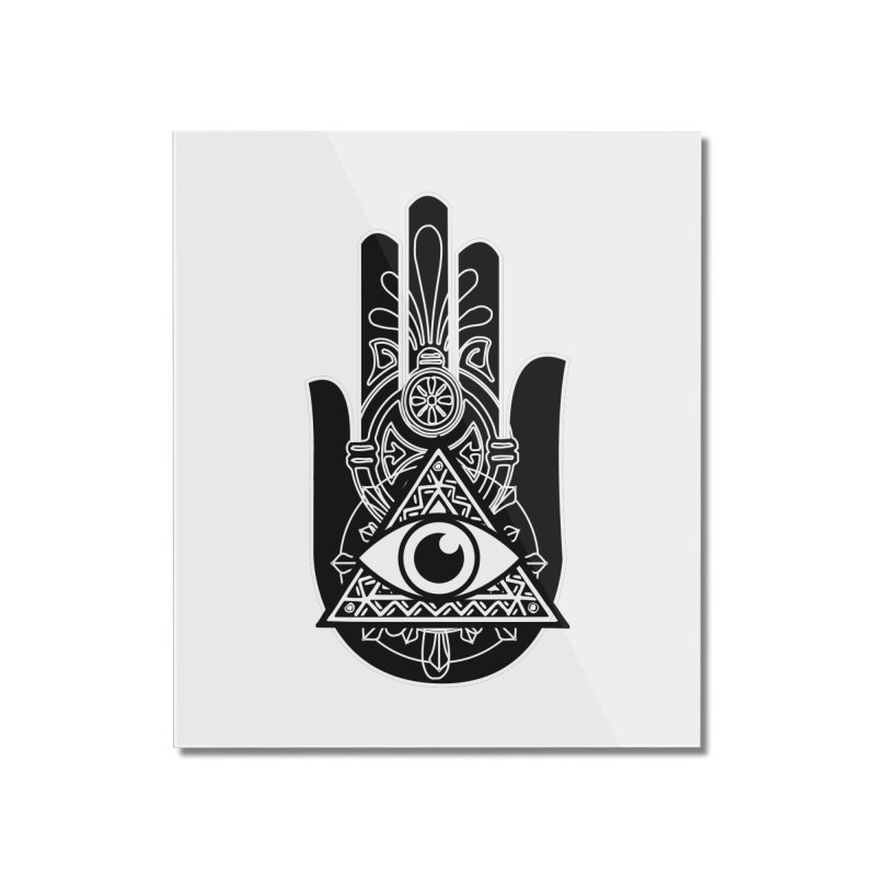 Hamsa Third Eye Home Mounted Acrylic Print by