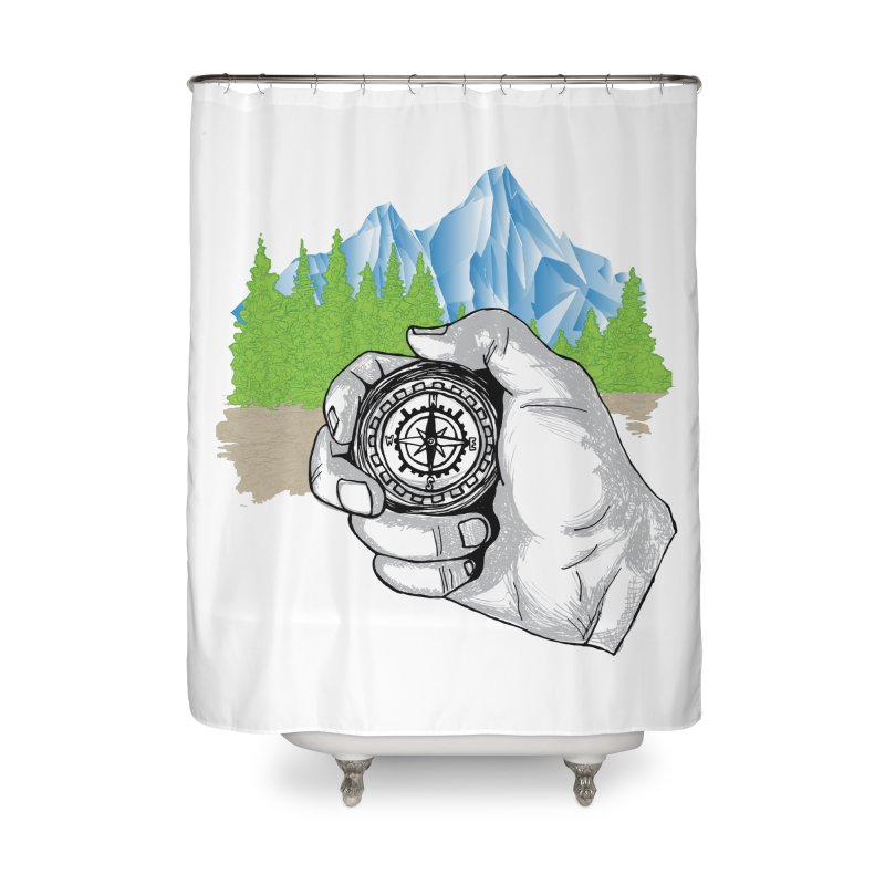 Heading North Home Shower Curtain by