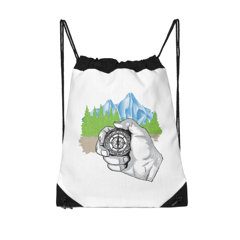 Heading North Accessories Drawstring Bag Bag by