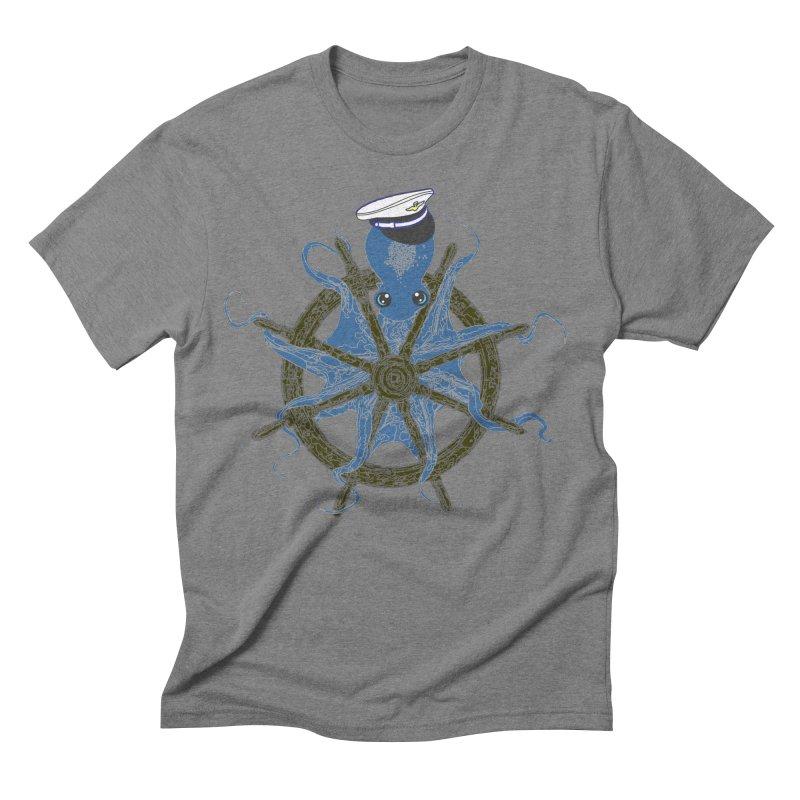 Octopus Captain Men's Triblend T-Shirt by