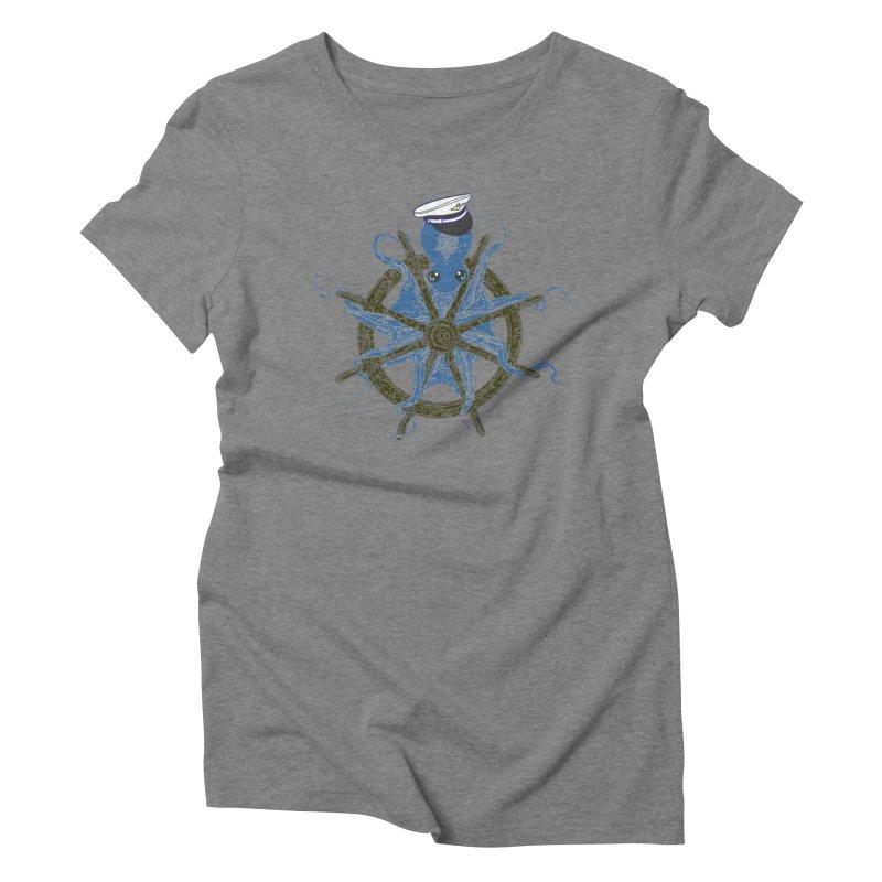 Octopus Captain Women's Triblend T-Shirt by