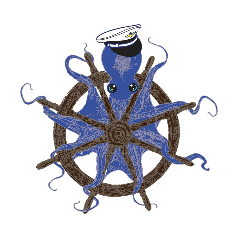 Octopus Captain Accessories Water Bottle by