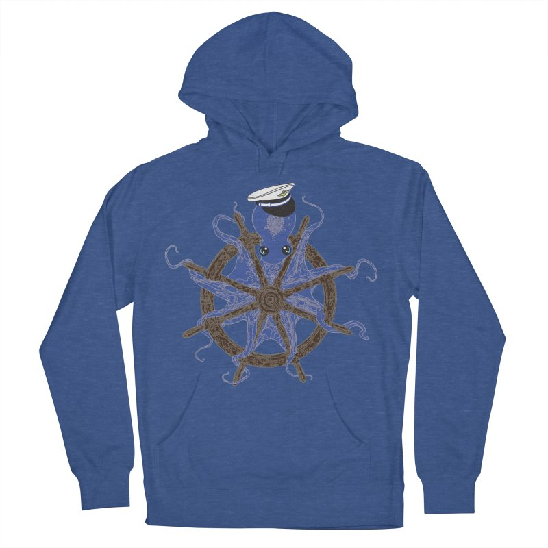 Octopus Captain Men's French Terry Pullover Hoody by