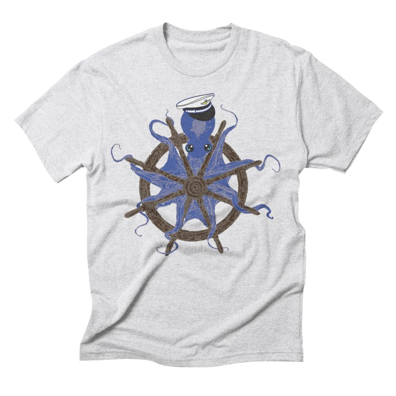 Octopus Captain Men's Triblend T-Shirt by