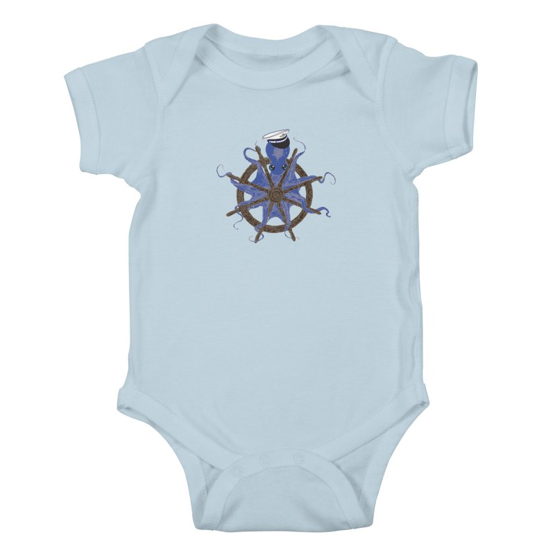 Octopus Captain Kids Baby Bodysuit by