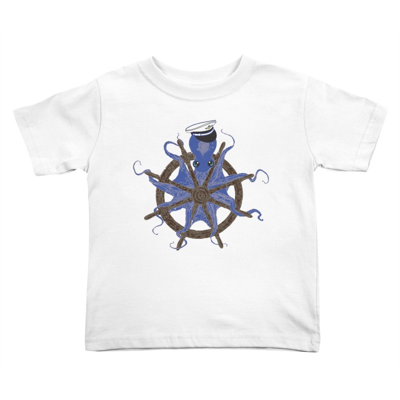 Octopus Captain Kids Toddler T-Shirt by