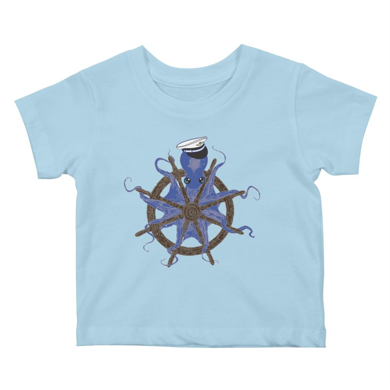 Octopus Captain Kids Baby T-Shirt by