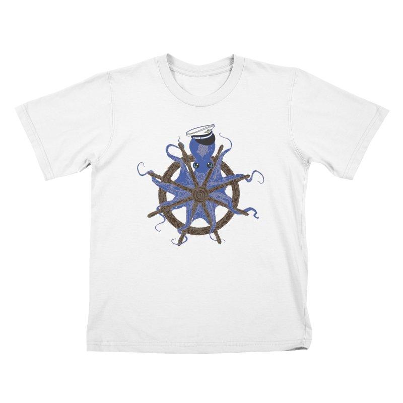 Octopus Captain Kids T-Shirt by