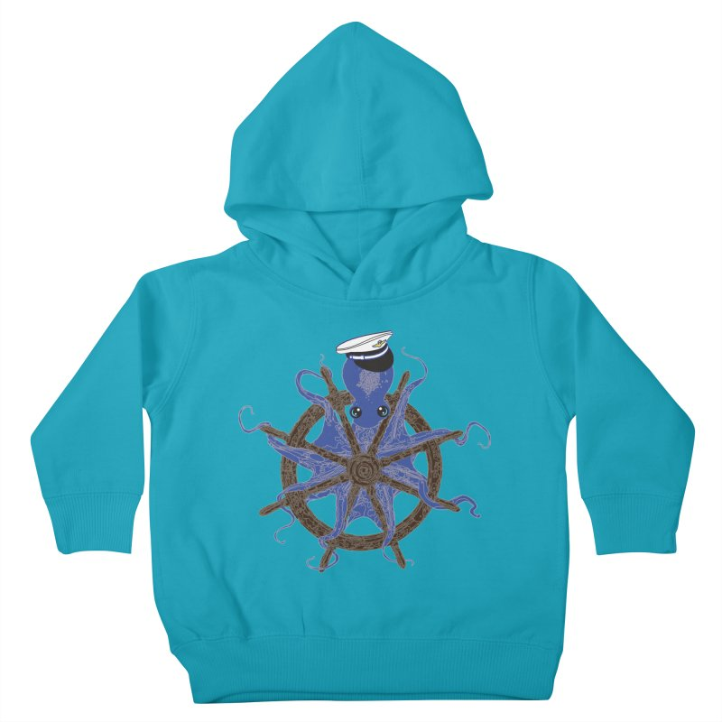 Octopus Captain Kids Toddler Pullover Hoody by